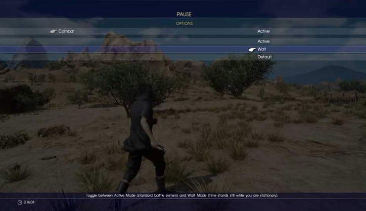 Final Fantasy 15 combat mode