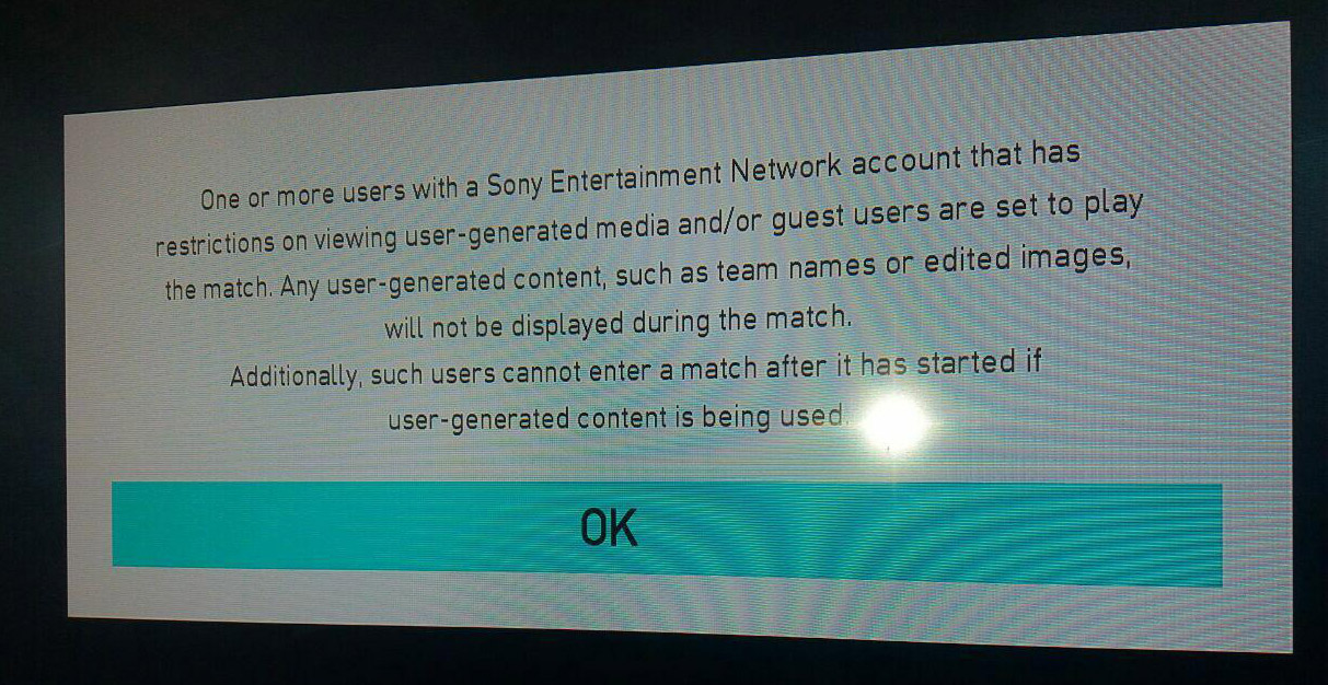 PES 2018 Error after connecting second controller