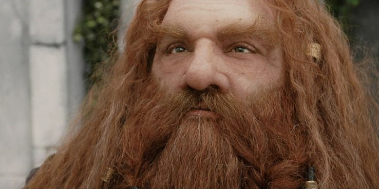 John Rhys Davies as Gimli in The Lord of the Rings