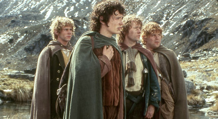Lord of the Rings Merry Frodo Sam Pippin