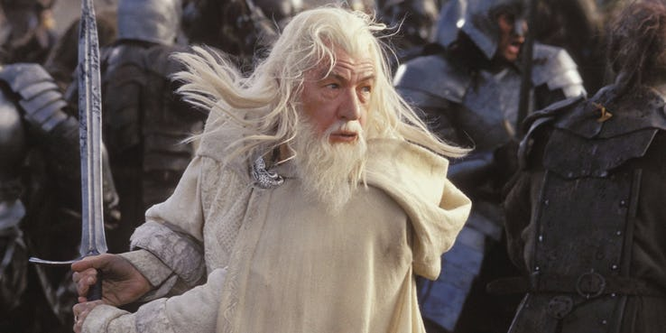 ian mckellan as gandalf the white in the two towers