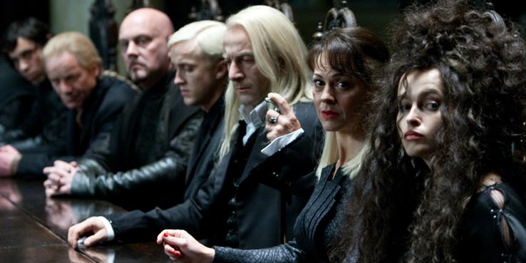 Death Eaters Harry Potter not all pure blood