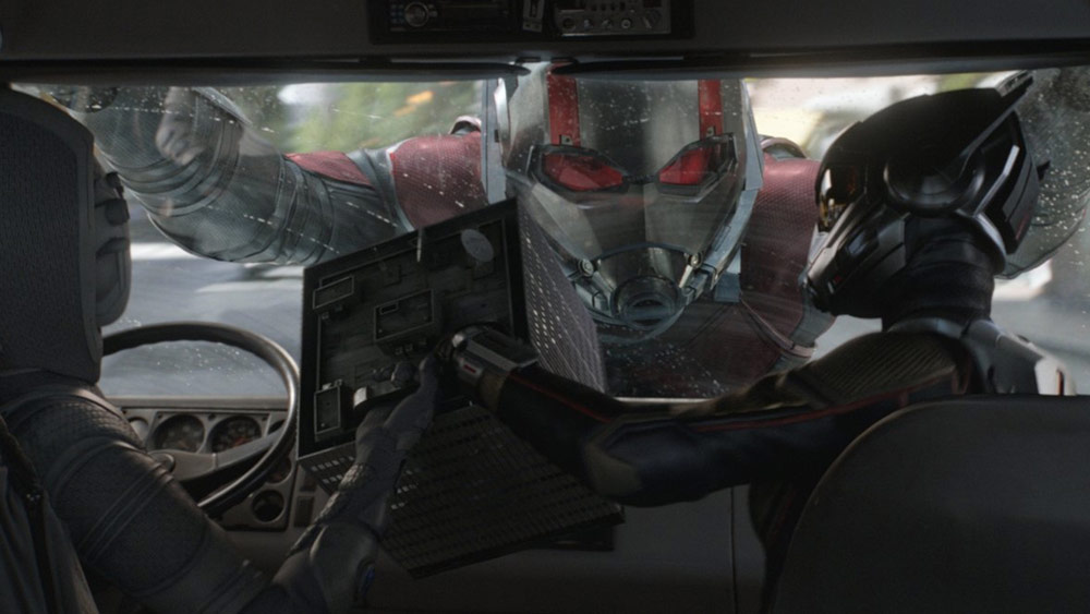 new info on how ant man and the wasp connects to avengers 4 and a new clip features luis recruitment social