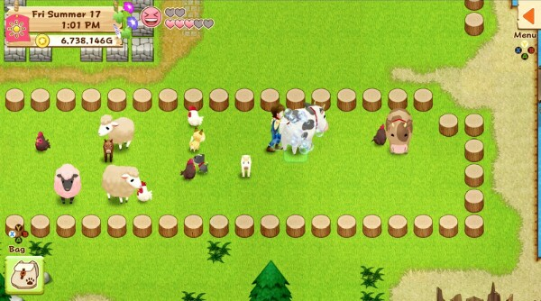 Harvest moon light of hope screen shots