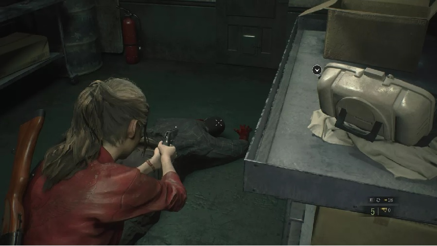 Resident Evil 2 roll film hiding find and develop 1
