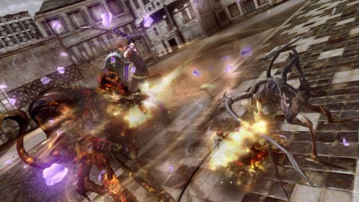 نمائی از مبارزات در بازی FF XIII Lightning returns