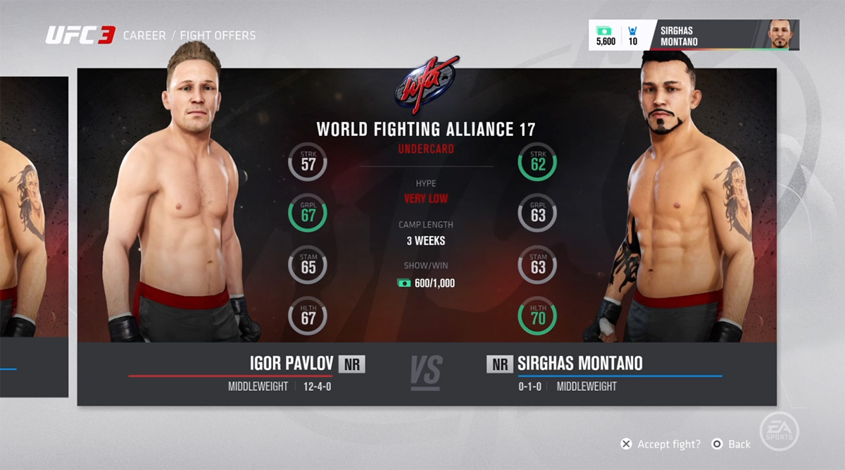 UFC 3 Review Screenshot 1 Rivals